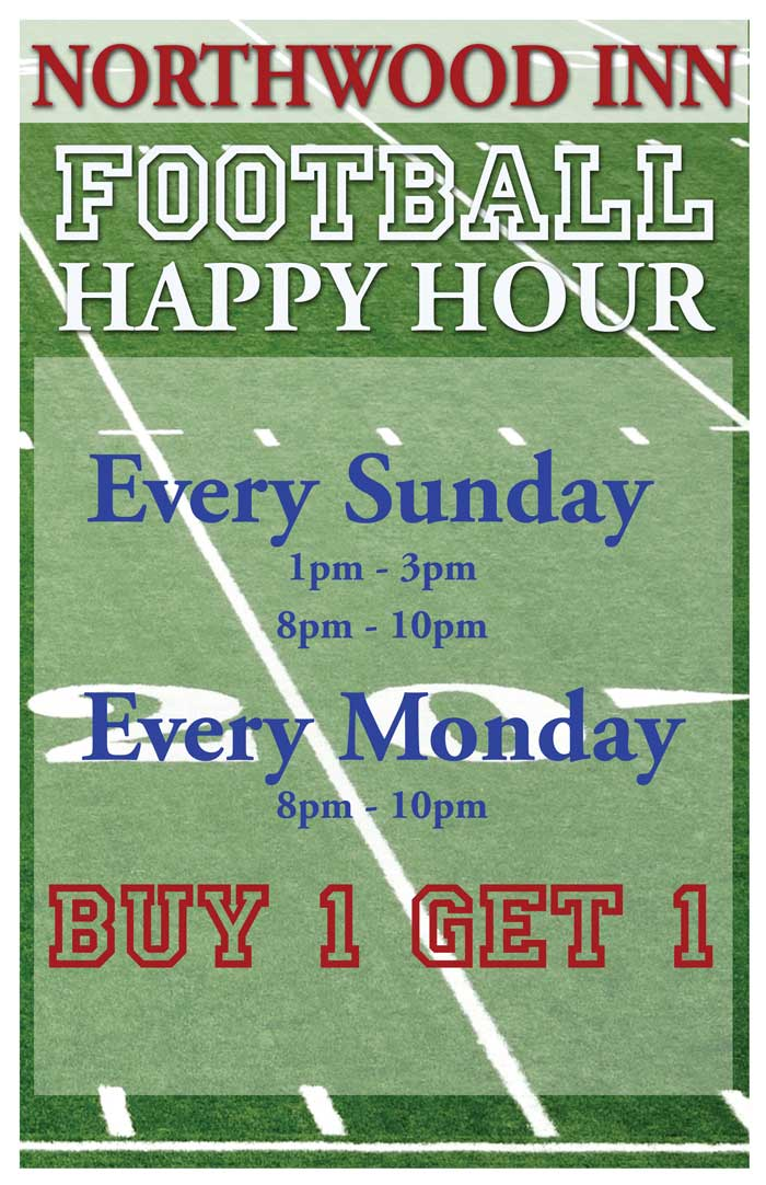 Northwood Football Happy Hour