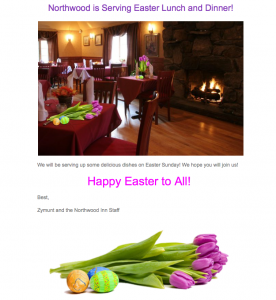 Easter Sunday @ Northwood Inn
