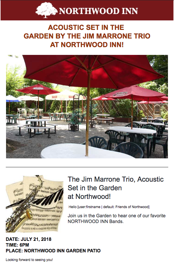 Jim Marrone Trio - Northwood INN
