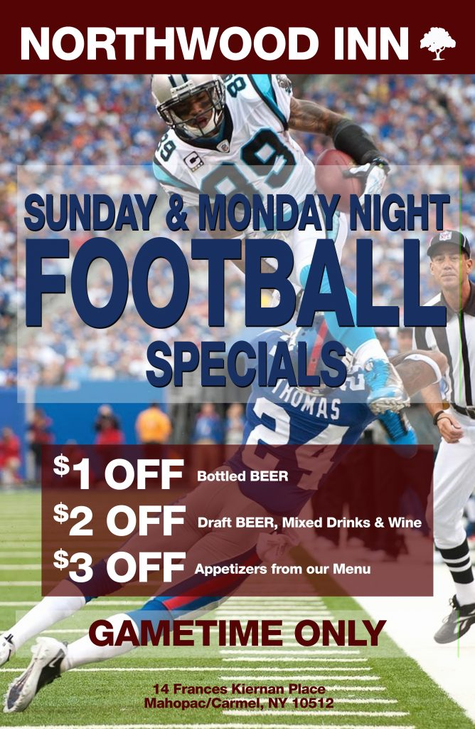 Northwood Inn Football Specials